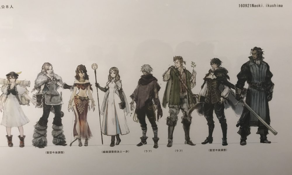 Concept art takes center stage at the Octopath Traveler