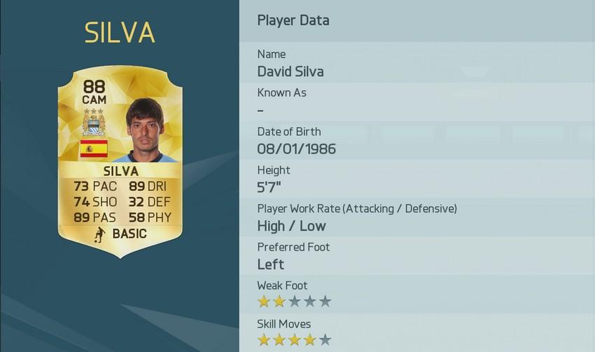 3 David Silva Fifa 16 FUT die besten Passgeber