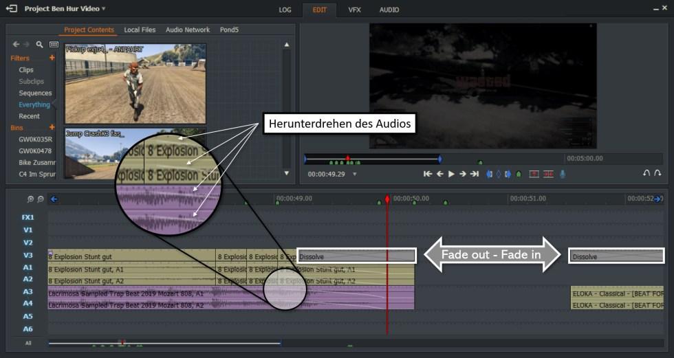 Intro 2 zu Intro 3 Fade Audio Bild - Editing GTA Ben Hur