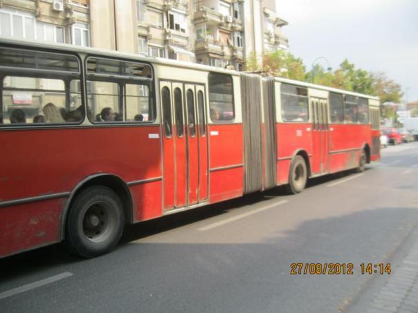 Bus urbano , en Skopje .