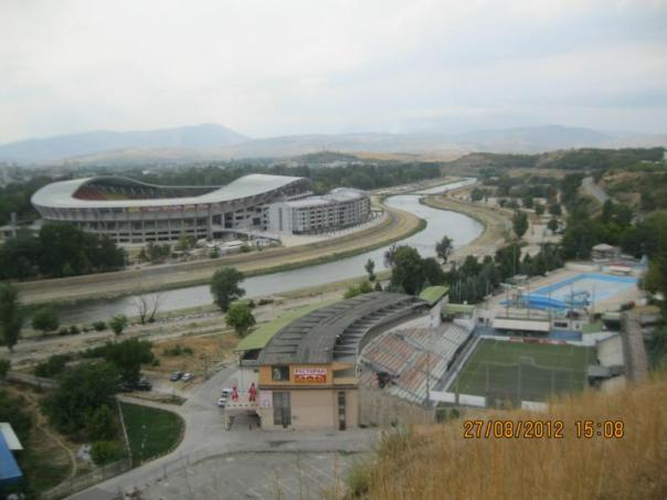 Vistas de Skopje .