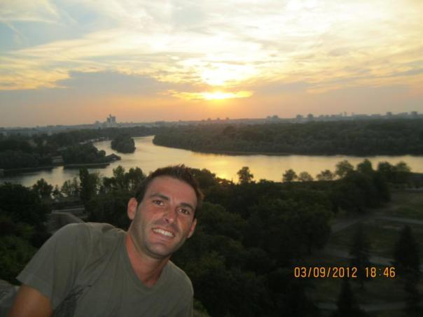 Puesta de sol , en Belgrado .