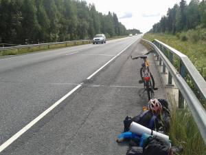 Viajar sin dinero en bicicleta