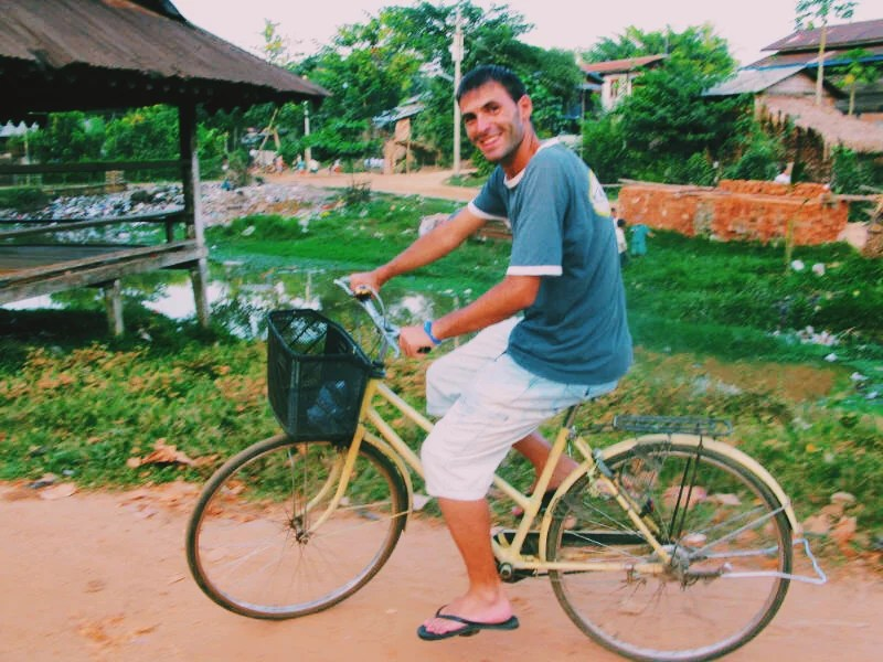 Cycling around Myanmar.