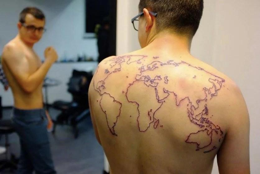World Map Autostop Magellan.