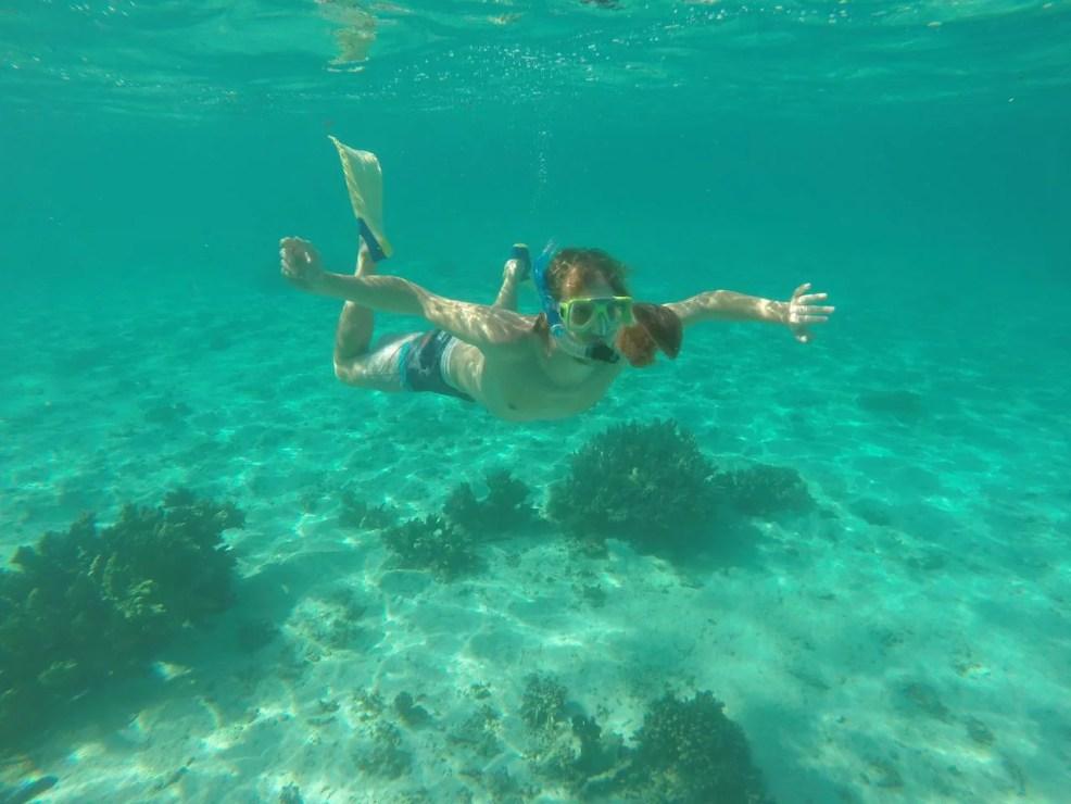 Jamie diving.