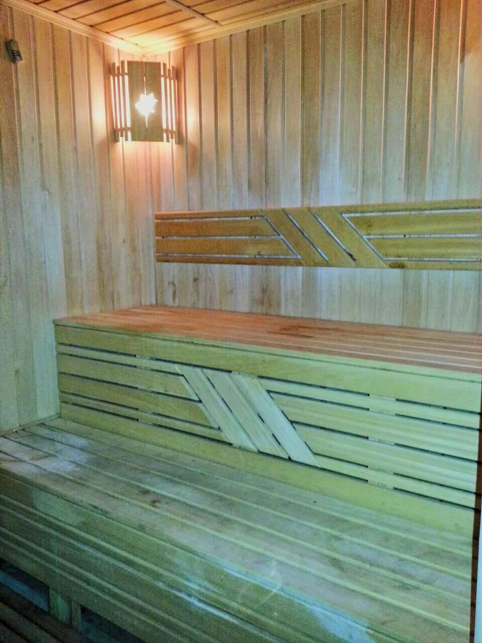 sauna at Ambassador Hotel.