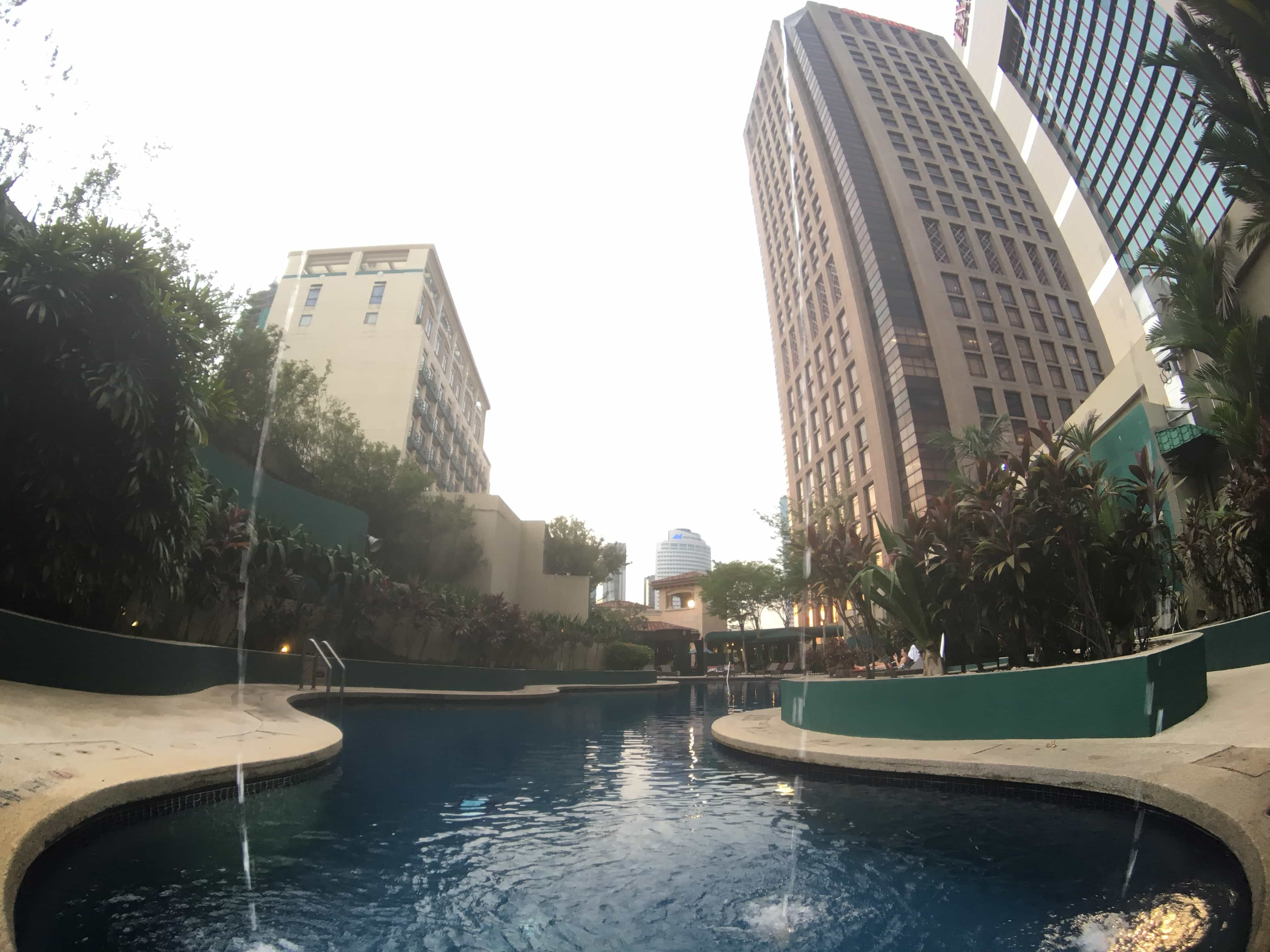 Swimming pool at Sheraton Imperial.