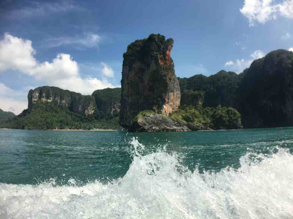 Riding the boat to Thailand beaches