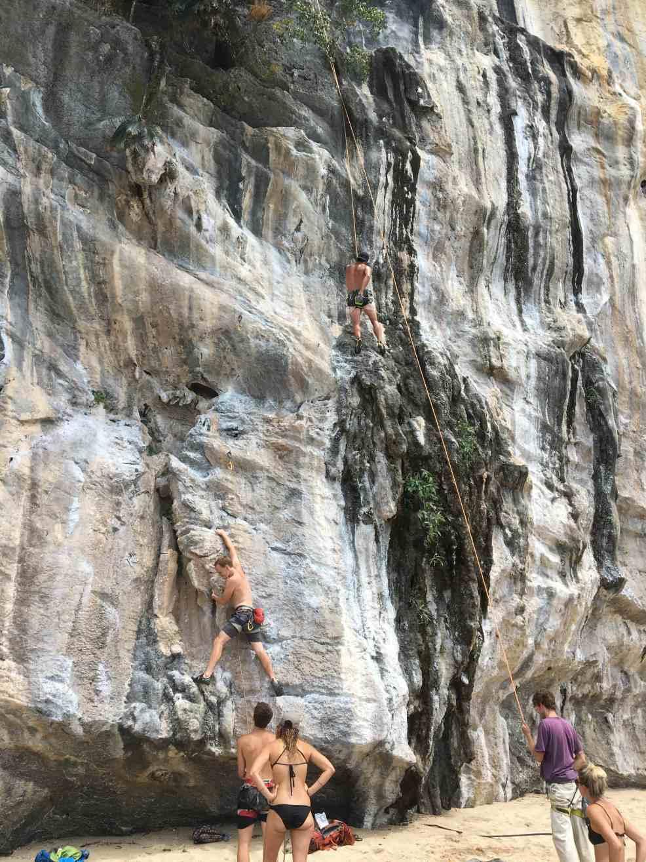 Climbing at Thailand beaches