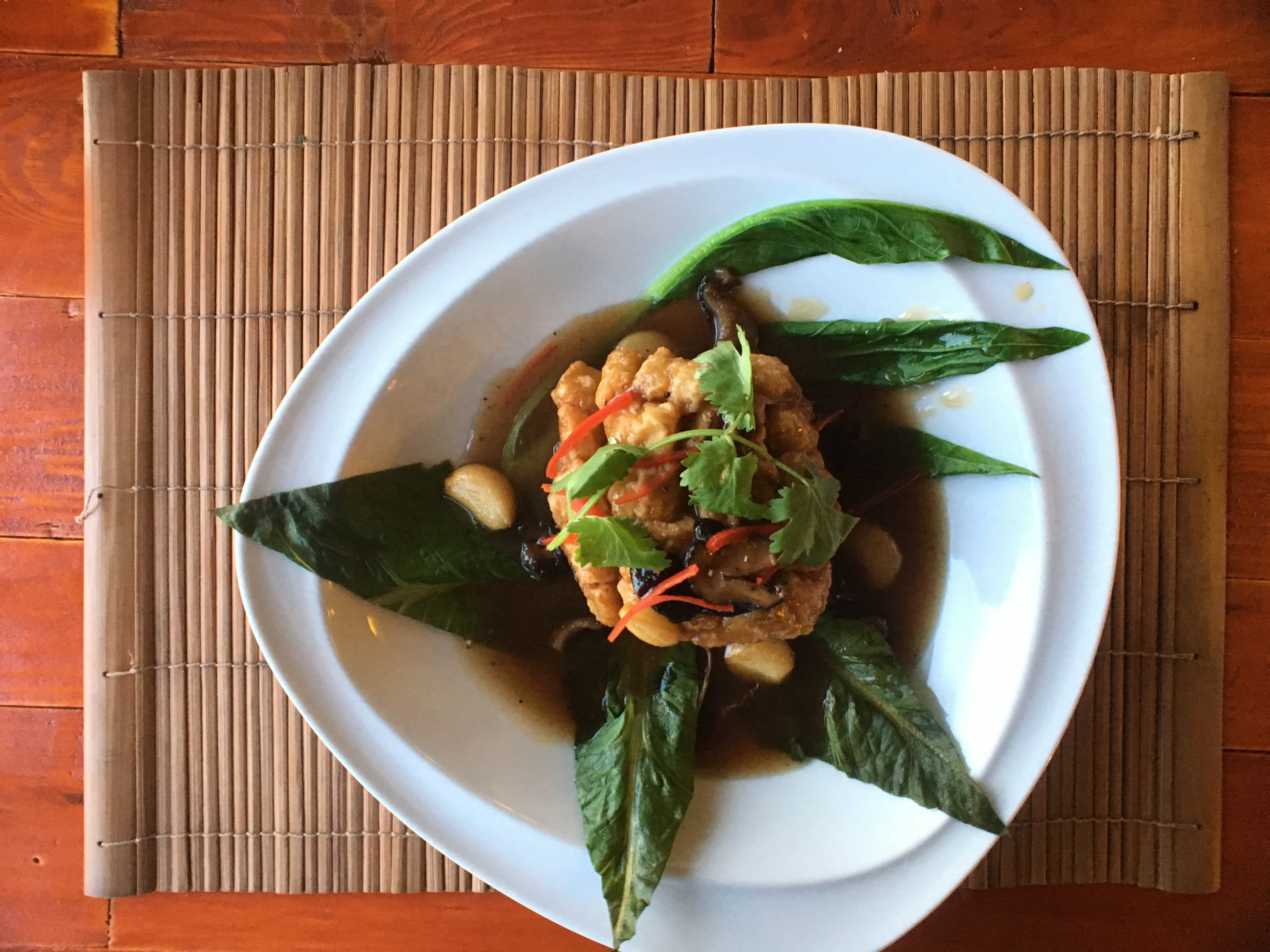 Local dishes in our luxury vacation in Thailand.