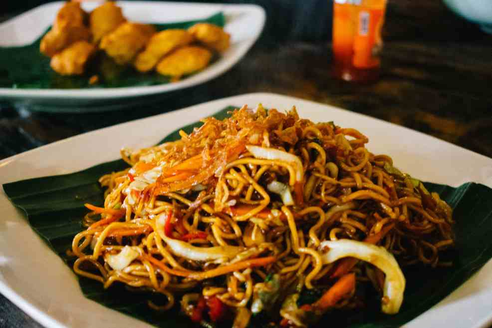 Mie goreng is one of the most popular local dishes in Indonesia.