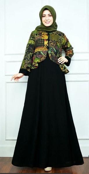 Model Baju Batik Gamis Blazer Terbaru Ragam Muslim