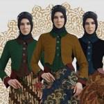 10 Model Padu Padan Gamis Batik dan Blazer