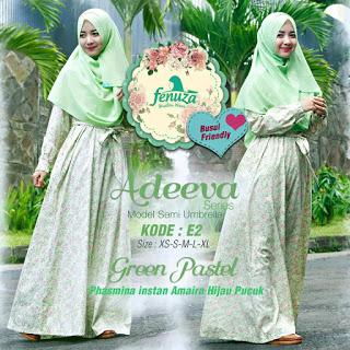 Gamis Fenuza Adeeva Series E2 Green Pastel
