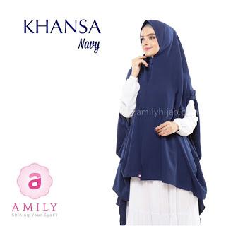 Hijab Amily Khimar Khansa Navy