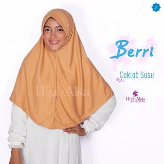 Hijab Alsa Berri Coklat Susu