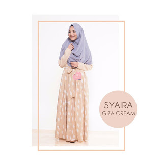 Gamis Amima Syaira Dress Giza Cream