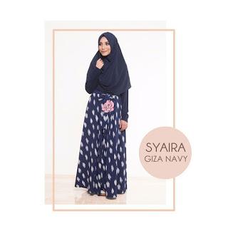 Gamis Amima Syaira Dress Giza Navi
