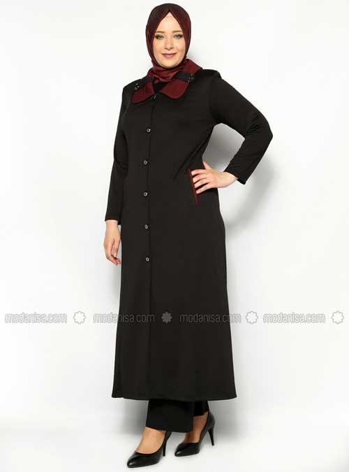 contoh model baju muslimah dengan celana untuk wanita gemuk