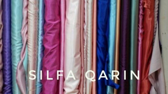 contoh bahan kain satin sutra atau satin silk