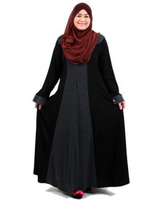 contoh busana muslim untuk tubuh gemuk