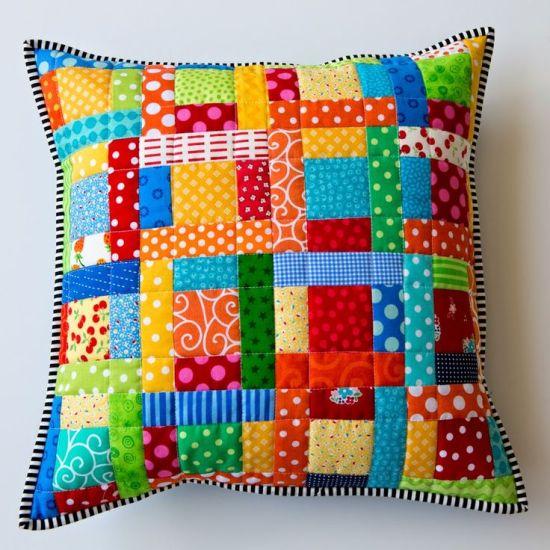 sarung bantal dari patchwork