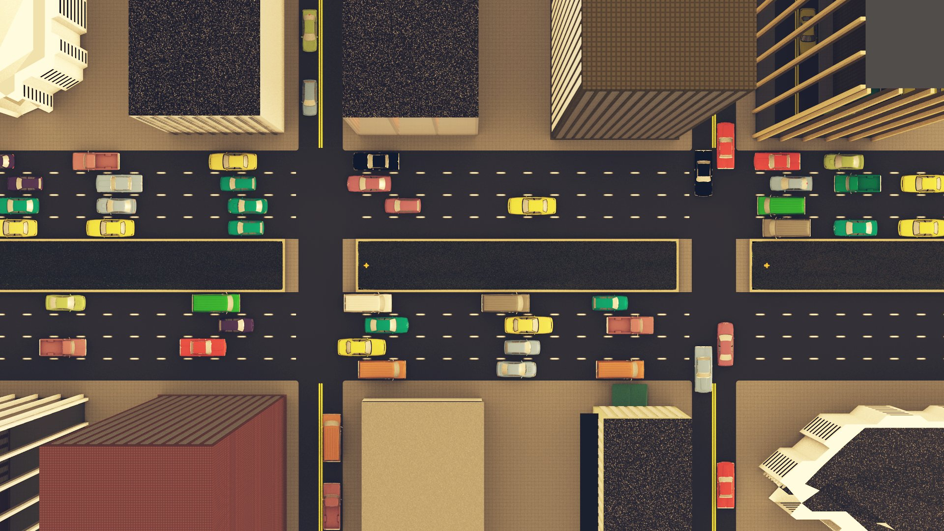 Interactive Hybrid Simulation of LargeScale Traffic