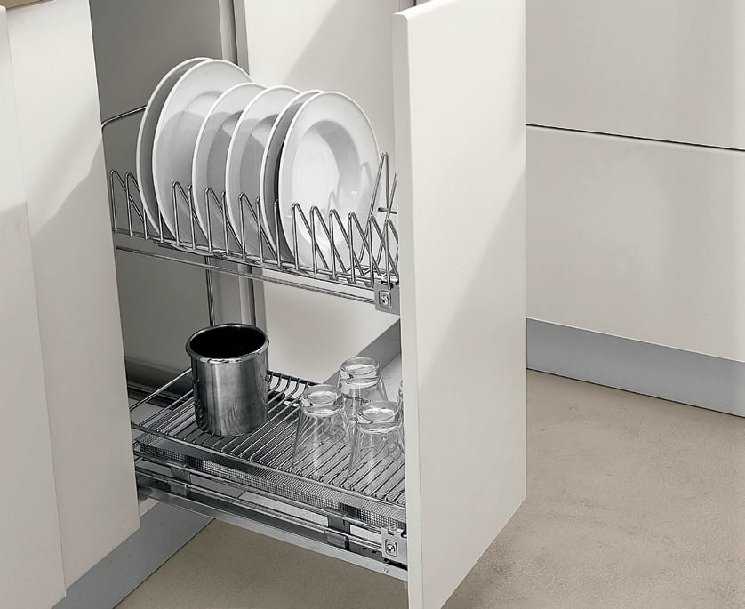 pull out dish racks gamma fittings