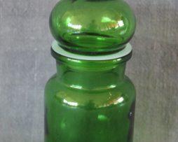 Glasburk med lock | Grön