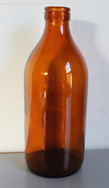 Mjölkflaska 1 liter Brun