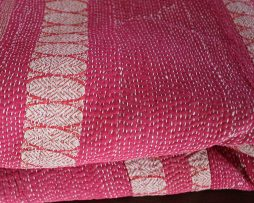 Pläd/Filt av återvunna Saris | Rand