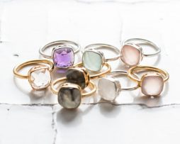 Gem Drop Ring | Silver