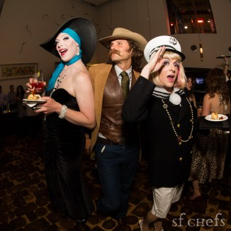 Joshua Wilder Oakley (Tango & Stache) and entertainers at Saturday's 'Late Night Luxury: The After Party' at Bluestem Brasserie