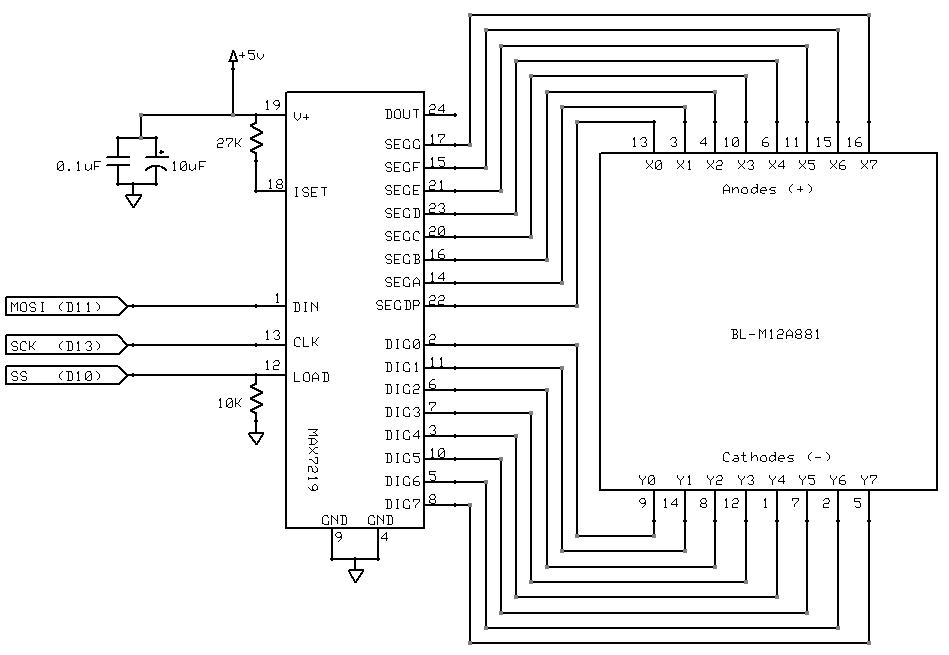 8x8x8 multiplexed LED cube with an Arduino Mega 2560