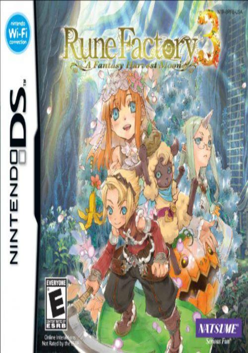 Rune Factory 3 Rom : factory, Factory, Fantasy, Harvest, Download, Gamulator