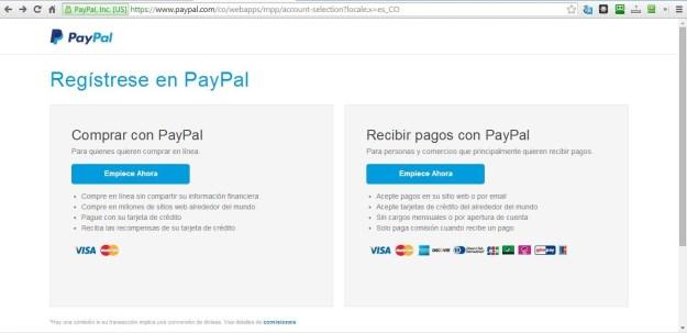 Abrir Cuenta Paypal