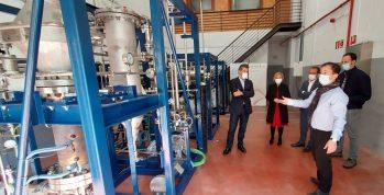 Visita del reactor de membranas para producir hidrógeno de H2Site en Markina