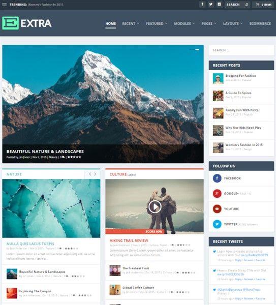 mejor theme para blogs WordPress