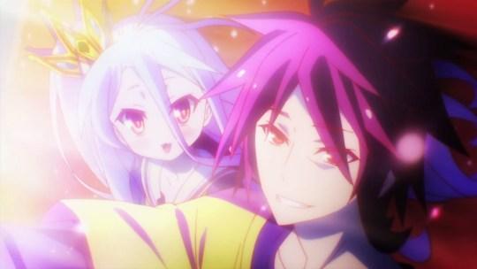No Game No Life Sora and Shiro end