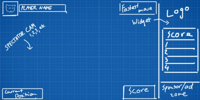Spectator screen wireframe sketch
