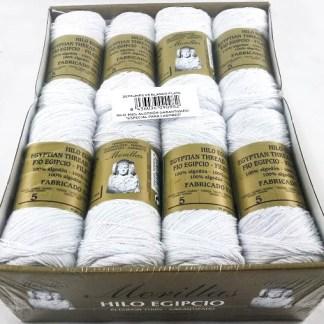 Caja 16 zepelines N8 blanco plata de algodón 100%