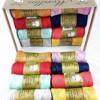 Caja 16 zepelines N12 colores serie 4 de algodón 100% egipcio