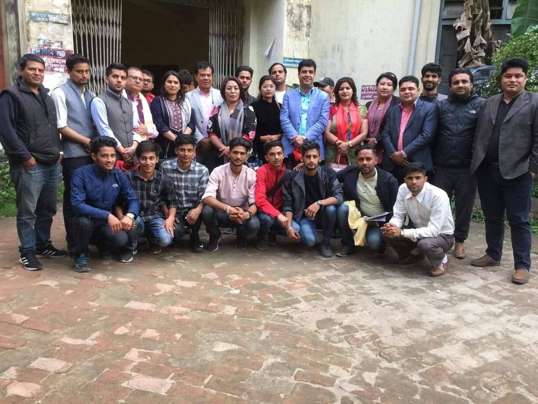 नेपाल विद्यार्थी संघ पर्वत काठमाडौं सम्पर्क समितद्धारा शुभकामना आदानप्रदान तथा अन्तरक्रिया सम्पन्न