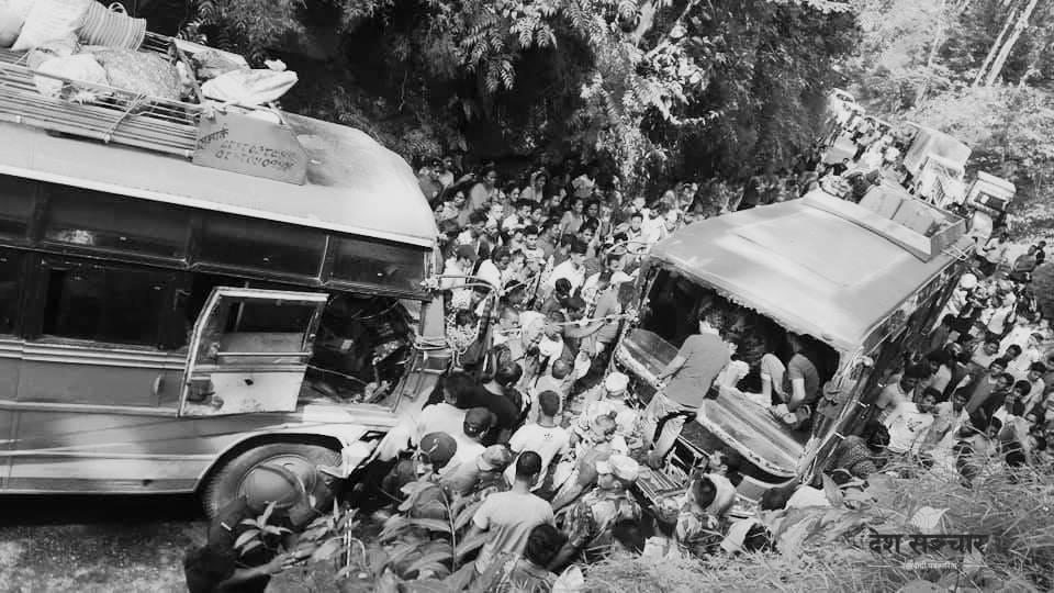 भारत : बस दुर्घटना हुँदा ६ नेपालीको मृत्यु, १८ जना घाईते