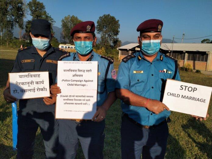 बाल बिवाहविरुद्ध लुम्बिनी प्रदेश प्रहरीको अभियान