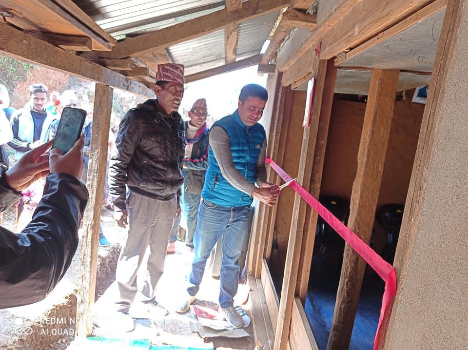 नेपाली काँग्रेस ठानामौलाको पार्टी कार्यालय नेवि संघ जिल्ला अध्यक्षद्धारा उदुघाटन