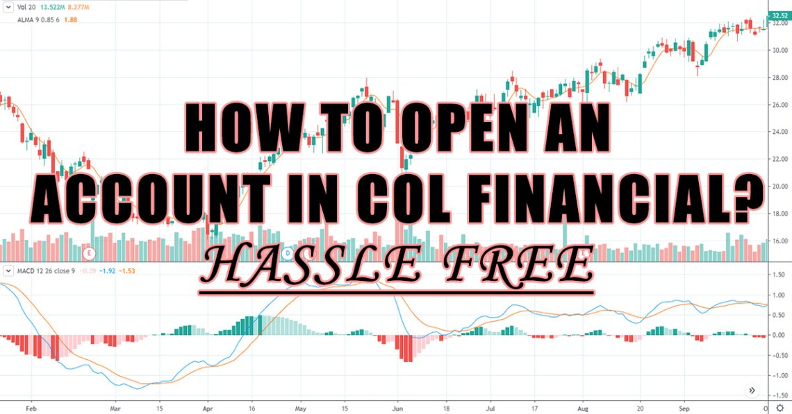 how to open an account in col financial