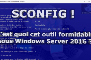 Outil de Windows Server Sconfig