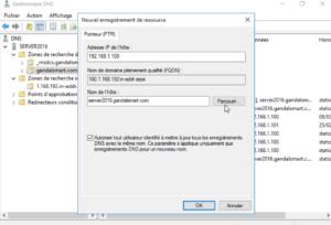 Complétez ladresse IP de lenregistrements PTR 300x204 - Comment configurer le DNS – Zones et enregistrements - sous Windows Server 2016